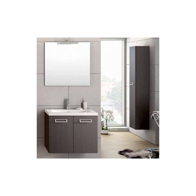 Mobile Da Bagno Design.Mobile Da Bagno Sospeso Bianco 2 Cassetti Con Specchio