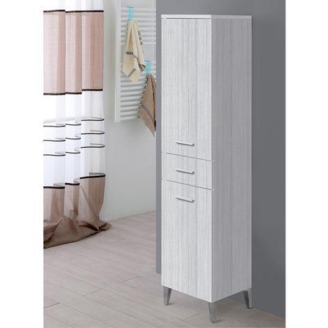 Mobile bagno colonna 35 cm grigio due ante un cassetto moderno ...