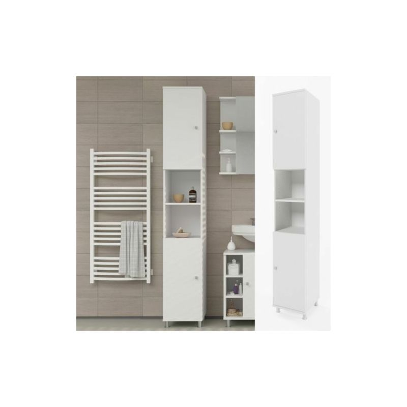 Mobile bagno colonna pensile armadio alto bagno moderno for Armadio bagno bianco