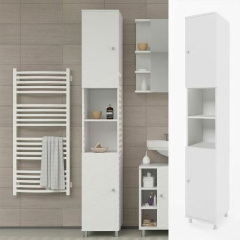 Mobile bagno colonna pensile bagno armadio arredo bagno bianco