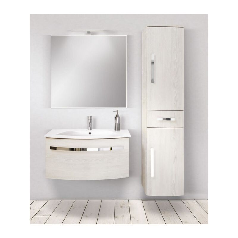 Mobile bagno con colonna linea circle 73 cm - global trade - cod. cir73.1c/00