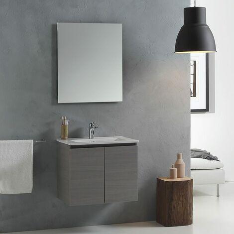 Lavello Bagno Con Mobile.Mobile Bagno Con Lavabo Da 60 Cm Con Ante In Grigio Mod