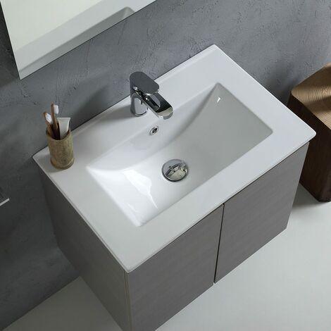 Mobile Bagno Con Lavabo Da 60 Cm Con Ante In Grigio Vinci 02010661000851