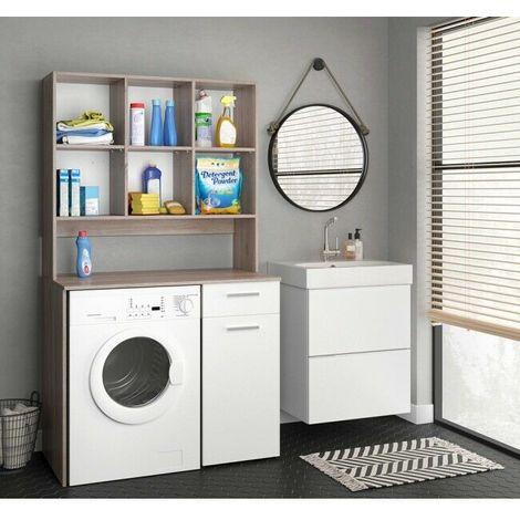 Mobili Per Lavatrici Ad Incasso.Mobile Bagno Da Incasso Per Lavatrice Armadio Bagno Con Mensola