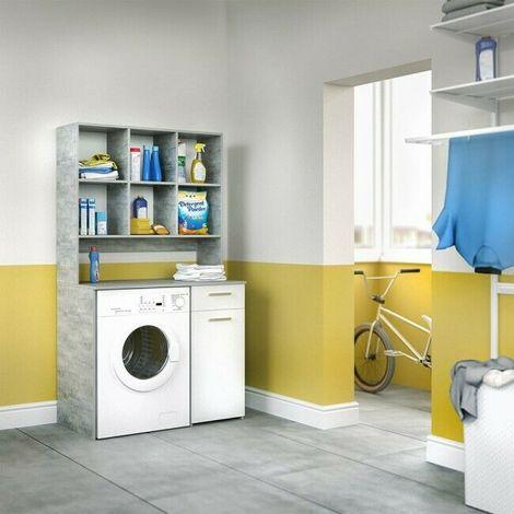 Mobile Bagno Lavatrice Incasso.Mobile Bagno Da Incasso Per Lavatrice Armadio Bagno Con Mensola Con 6 Scomparti