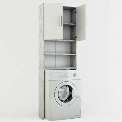 Mobile bagno da incasso per lavatrice armadio bagno pensile grigio ...