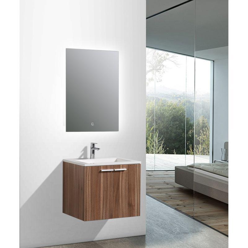 Mobile bagno do600 noce specchio o armadietto a specchio for Mobile bagno senza specchio