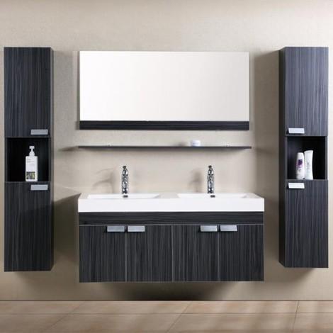 Mobile bagno himan sospeso 120 cm doppio lavabo