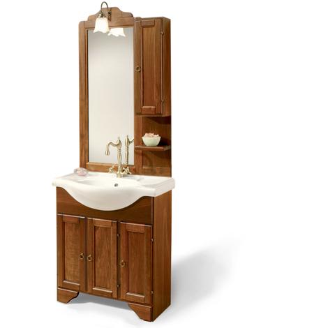 Specchiera Bagno Arte Povera.Mobile Bagno In Arte Povera Cm 75 Con Lavabo Specchiera Pensile E