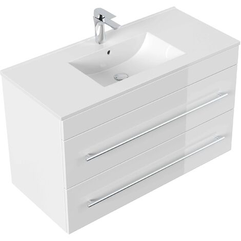 Mobile bagno Infinity 1000 bianco lucido