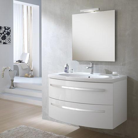 Mobili Da Bagno Laccati.Mobile Bagno Monica 100cm Bianco Laccato Lavabo In Ceramica Mn2c