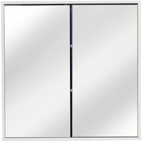 Mobile bagno sospeso Mobile bagno - Chiusura a specchio a 2 ante Armadio a 3 ripiani Cucina LAVENTE