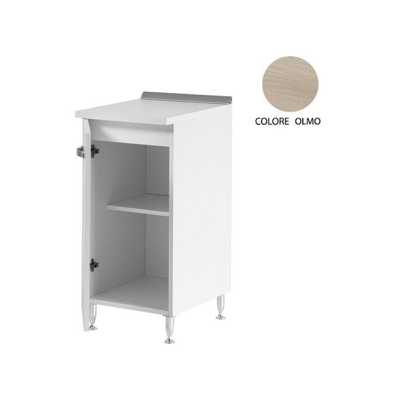 Mobile base per cucina bianco-olmo 1 anta Cm 30x50xH 85