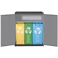 Mobile basso 2 ante raccolta differenziata 3 sacchi carta vetro plastica 7818C04
