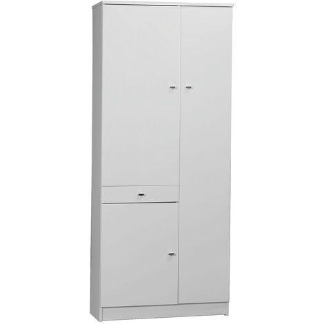 Mobile bianco laccato lucido 3a+1c cm.77x34x183h - Capaldo