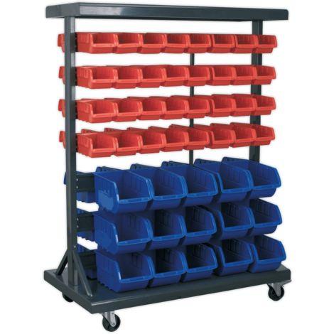 Mobile Bin Storage System with 94 Bins