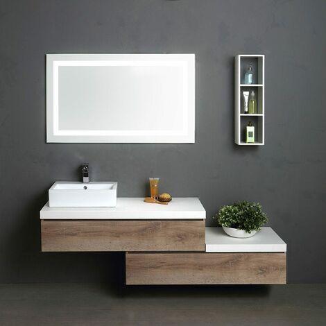 Specchio Bagno Con Mensola E Luce.Mobile Componibile 180 Cm Con Specchio Bagno Luce A Led