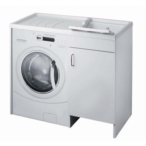 Mobile Copri Lavatrice E Lavatoio 109 X 60 Bianco Vasca Destra Da