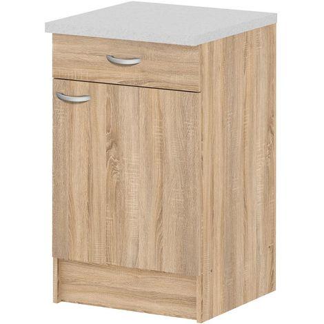 Mobile cucina 1 anta 1 cassetto colore quercia arredamento casa 45520 Ak