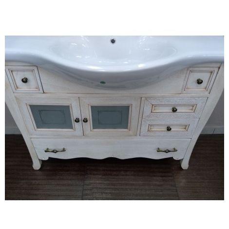 Mobile da bagno classico in legno Martina con 2 ante in vetro ...