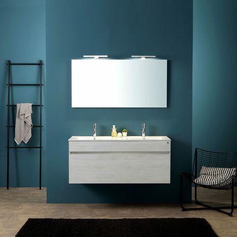 Bagni Moderni Doppio Lavabo.Mobile Da Bagno Moderno Grigio Da 120 Cm Con Doppio Lavabo Serie Sole