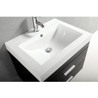 38d92a13983154 Mobile da bagno nero da 60 cm con lavandino in marmoresina. Rubinetto e  piletta inclusi