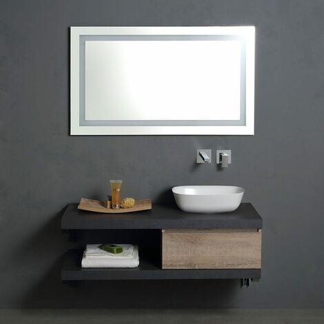 Mobile da bagno sospeso 120 cm modello componibile con for Mobilia mobili bagno