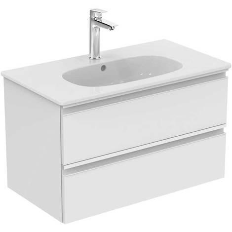 Mobile da bagno sospeso cm 100 a due cassetti Ideal Standard collezione Tesi