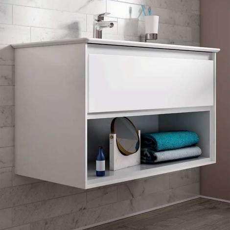 Mobile da bagno sospeso da 100 cm un cassetto Ideal Standard Connect ...