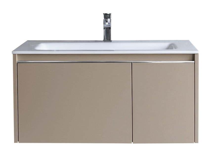 Mobili Da Bagno Non Sospesi : Mobile da bagno sospeso in legno tortora cassetti con lavello