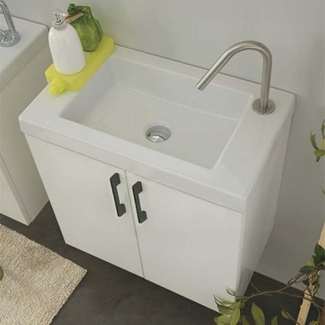 Mobile da bagno Xilon mod. Icaro Smart Sospeso cm 60x35 colore Bianco lucido Cod. 00163
