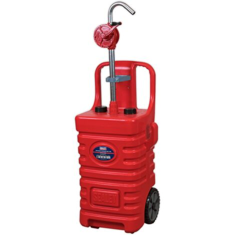 Mobile Dispensing Tank 55ltr with Oil Rotary Pump - Red