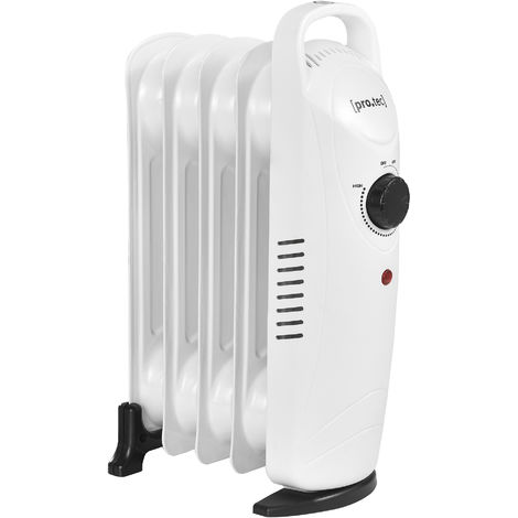 Mobile Elektroheizung 500W Öl Radiator Heizkörper Heizung Heizgerät