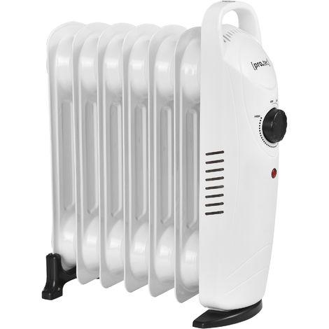 Mobile Elektroheizung 700W Öl Radiator Heizkörper 7 Heizrippen Überhitzungsschutz Allergikerfreundlich Heizung Heizgerät