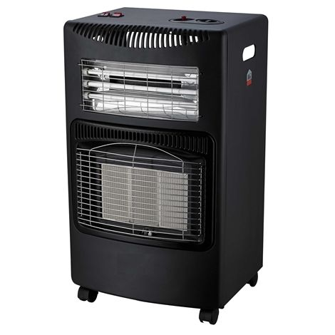 Mobile Gas Electric Heater With Fan LQ-HE02 Black