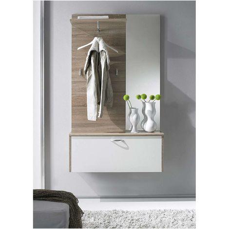 Mobile ingresso con scarpiera cassetto specchio appendiabiti entrata moderna
