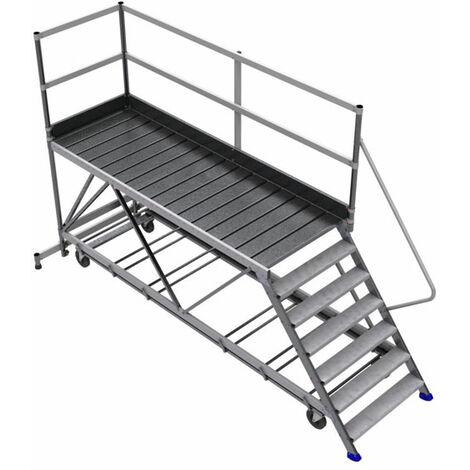 Mobile Laufsteganlage mit Geländer /LKW-Wartungsbühne einseitig (in verschiedenen Größen erhältlich)