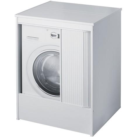Armadio Per Lavatrice Balcone.Mobile Lavatrice Da Esterno 70x60 In Resina Con Chiusura A Serrandina