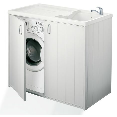 Mobile Lavabo E Lavatrice.Mobile Lavatrice E Lavatoio Bianco 109 X 60 In Pvc Reversibile 100001