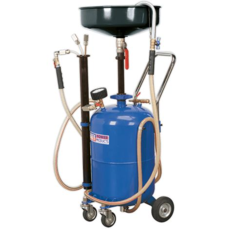Mobile Oil Drainer with Probes 35ltr Air Discharge