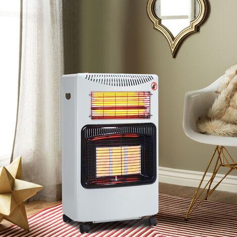 "main image of ""Cabinet Mobile Gas Heater Room Indoor Portable Ceramic Piezo Butane 1.3KW-4.2 kW, Black"""
