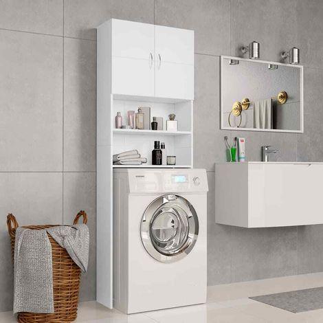 Mobile per lavatrice da incasso asciugatrice armadio bagno for Armadio bagno bianco