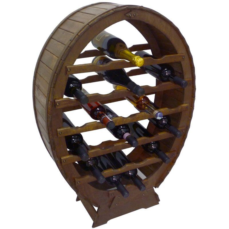 Cantinetta Porta Bottiglie Vino In Legno Scuro 32 Posti Casa Ristorante Cantina