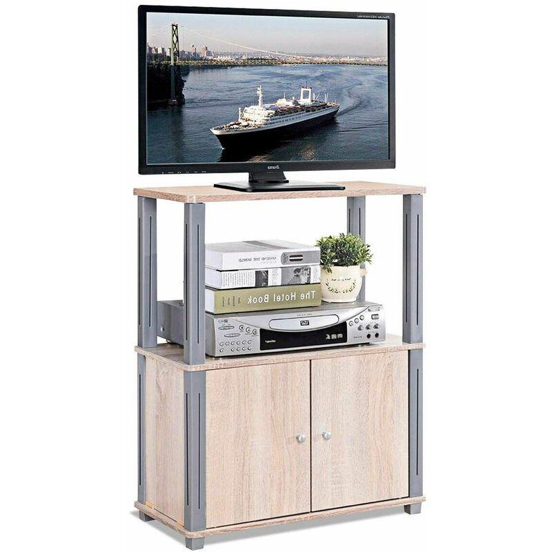 Mobile Porta TV Mobiletto da TV Supporto TV per Soggiorno Camera da Letto,  60 x 29,5 x 80 cm