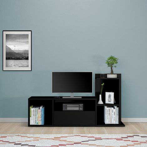 Mobile Porta TV Sumatra - con Ripiani - da Salotto - in Legno, 120 x 30 x 65 cm