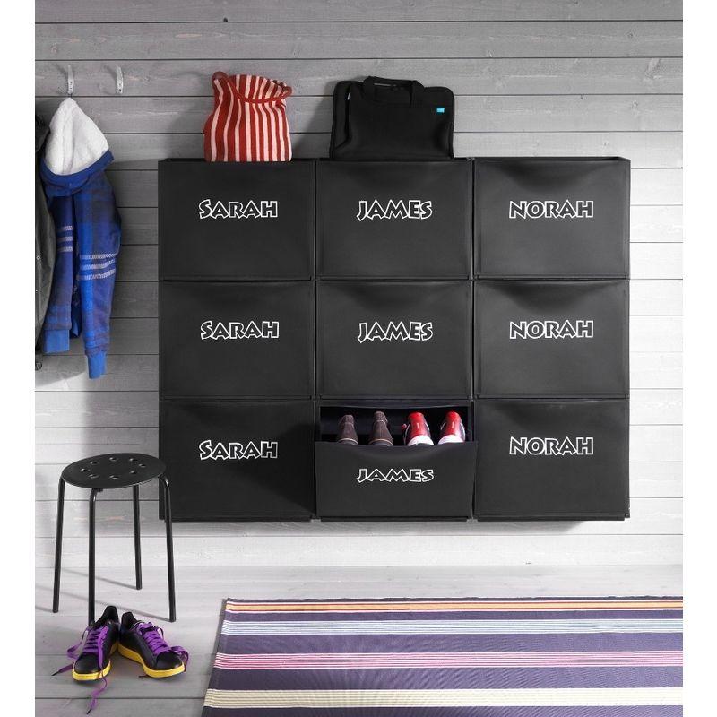 Mobili In Plastica Componibili.Mobile Scarpiera Nera Componibile Modulare Porta Scarpe Ikea