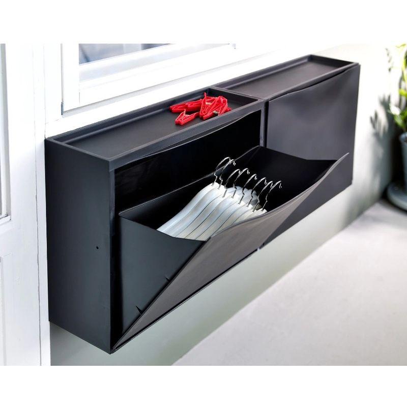 Scarpiere Componibili In Plastica.Mobile Scarpiera Nera Componibile Modulare Porta Scarpe Ikea