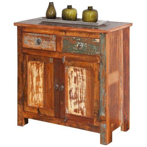 Mobile soggiorno buffet farol 85x40x85h legno massello di mango - Inter Link
