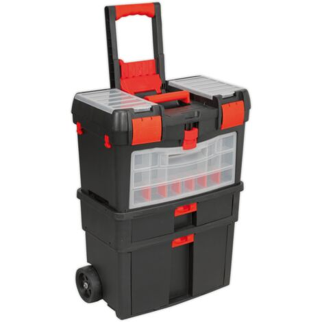 Mobile Tool Chest with Tote Tray & Removable Assortment Box