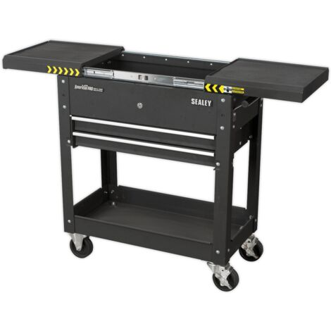 Mobile Tool & Parts Trolley - Black